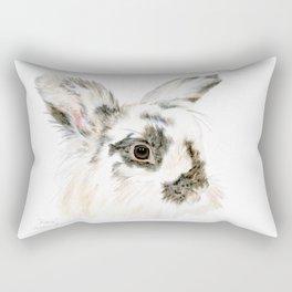 Pixie the Lionhead Rabbit by Teresa Thompson Rectangular Pillow