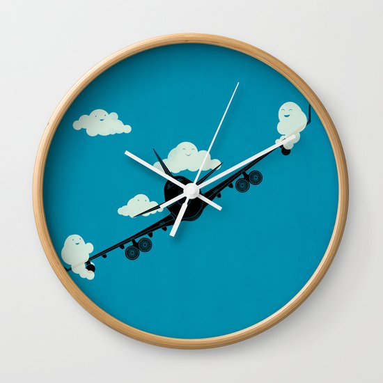 Seesaw in the Sky Wall Clock