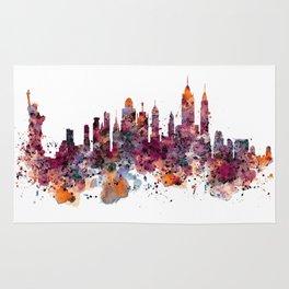 New York Skyline Silhouette Rug