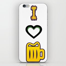 i love - I love beer iPhone Skin