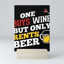 Wine glass red wine beer alcohol Mini Art Print