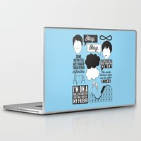 fault in our stars Laptop & iPad Skins featuring The Fault In Our Stars Collage by laurenschroer