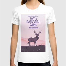 Swiss National Park vintage travel poster T-shirt