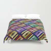 90s Duvet Covers featuring 90s pattern by Gabor Nemethi