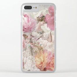 The Floral Lady Clear iPhone Case