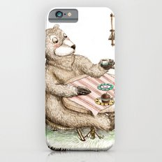 Mr.Brown is having breakfast iPhone 6s Slim Case