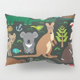 Animals Australia: Echidna Platypus ostrich Emu Tasmanian devil Cockatoo parrot Wombat snake turtle Pillow Sham