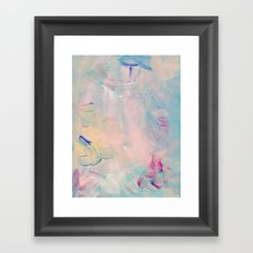 Abstract paint in pink Framed Art Print