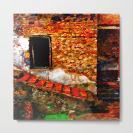 Ruins at Pompeii Italy Metal Print