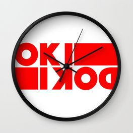 It all good, all right, ok, okidoki Wall Clock