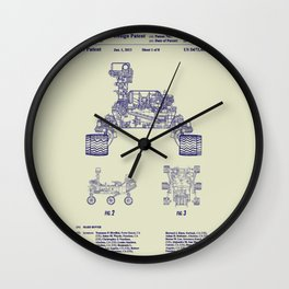 2013 NASA Mars Rover Curiosity Patent Wall Clock