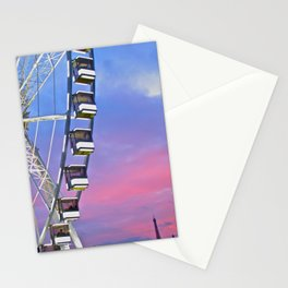 Ferris wheel at sunset Stationery Cards