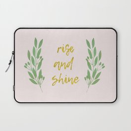 Rise and shine | motivational print | handlettering Laptop Sleeve