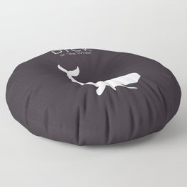 Moby Dick, Herman Melville, minimal book cover, classic novel, the whale, sea adventures Floor Pillow