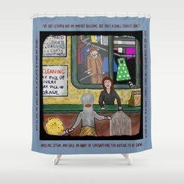 Dry Cleaner Horror Shower Curtain