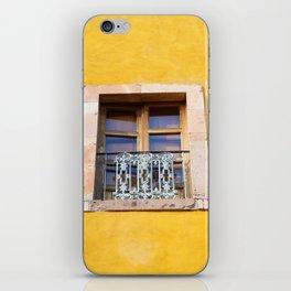 Ventana con marco de piedra iPhone Skin