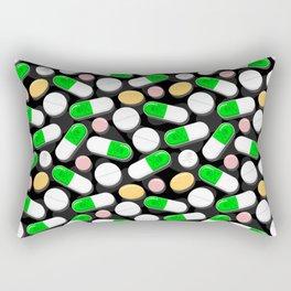 Deadly Pills Pattern Rectangular Pillow