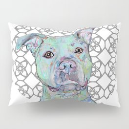 Staffy Portrait Pillow Sham