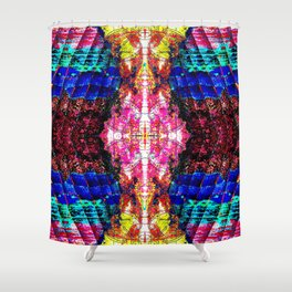 Living Spring Layered in Bright Pink Shower Curtain