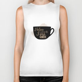 Gilmore Girls Inspired - I believe in a former life I was coffee Biker Tank