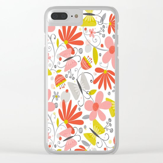Busy Butterflies Clear iPhone Case