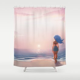 Where I'd Rather Be Shower Curtain