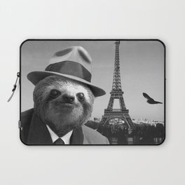 Gentleman Sloth in Paris Laptop Sleeve