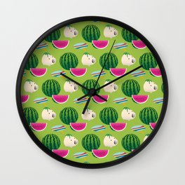 Traditional Japanese summer pattern_H Wall Clock