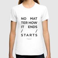 radiohead T-shirts featuring Radiohead House of Cards Lyrics by Mark McKenny