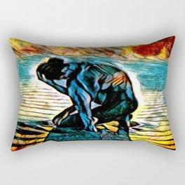 Light of the Burning Moon Rectangular Pillow