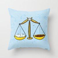 libra Throw Pillows featuring Libra by Giuseppe Lentini