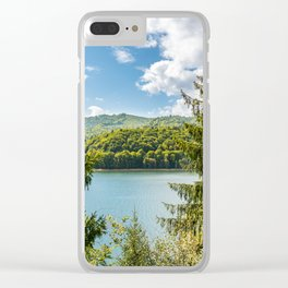 Carpathian Mountains View In Romania, Summer Landscape, Transylvania Mountains, Forests Of Romania Clear iPhone Case