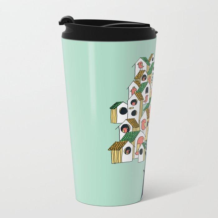 Bird houses Metal Travel Mug