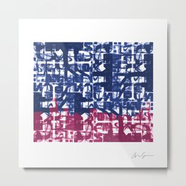 Chicago and Arabic Calligraphy Metal Print