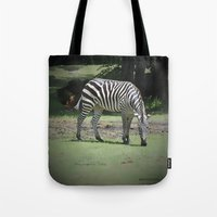 zebra Tote Bags featuring Zebra by BeachStudio