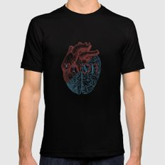 Love is...heart and reason Black Mens Fitted Tee MEDIUM