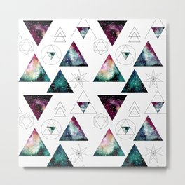 Galaxy Geometric Pattern 27 Metal Print