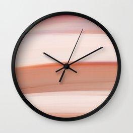 abstract landscape. pink desert Wall Clock
