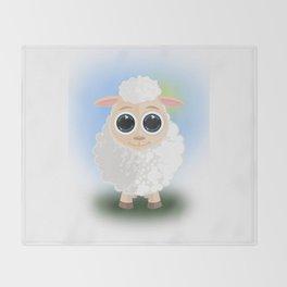 White Sheep Throw Blanket