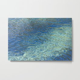 Spring Water Abstract Metal Print