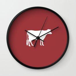 Cow: Barn Red Wall Clock