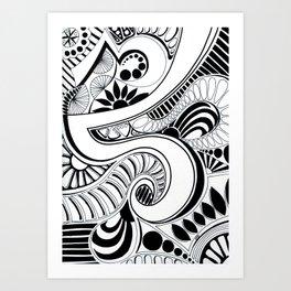 Retro Dazzle Art Print