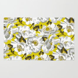 Mount Cook Lily - Yellow/White Rug