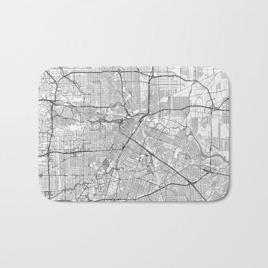 Houston Map Line Bath Mat