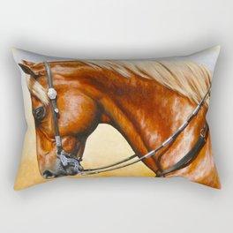 Western Sorrel Quarter Horse Rectangular Pillow