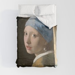 Girl with a Pearl Earring (1665), Old Masters Collection Comforters