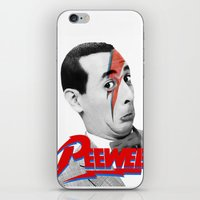 pee wee iPhone & iPod Skins featuring Pee wee by Iamzombieteeth Clothing
