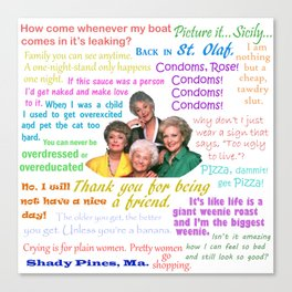 Golden Girl Quotes Canvas Print