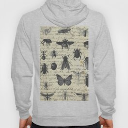 Insect Study on antique journal paper Hoody