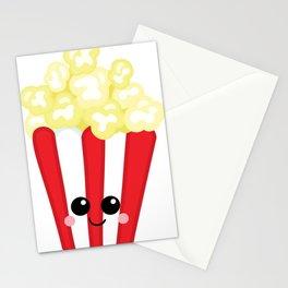 Kawaii Popcorn Stationery Cards